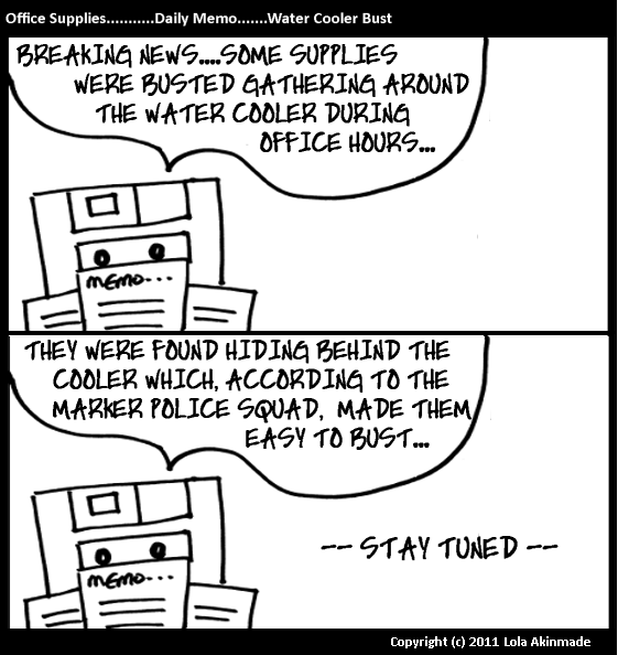 Office Supplies – The Comic© by Lola Akinmade